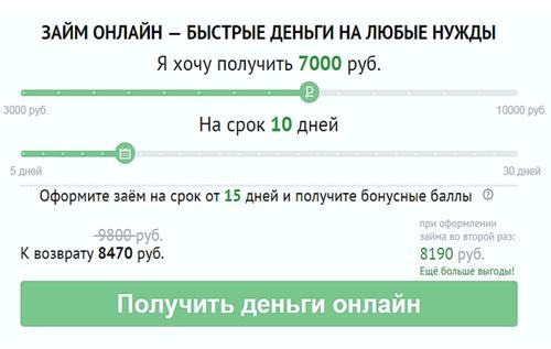 ООО МФК Честное Слово оформить онлайн заявку на займ