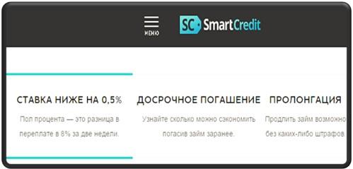 Смарт Кредит онлайн займы условия в МКК Smart Credit