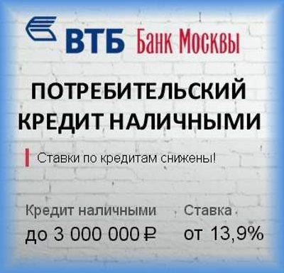Банк Москвы потребительский кредит: условия, принцип оформления