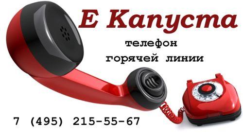 Е Капуста телефон горячей линии 7-495-215-55-67