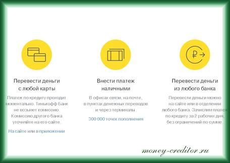 оплатить тинькофф с банковской карты через онлайн банкинг