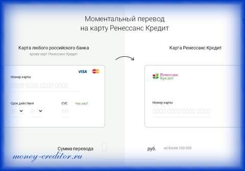 ренессанс кредит оплатить кредит онлайн на сайте банка