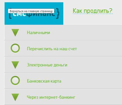 личный кабинет МФО СМС Финанс