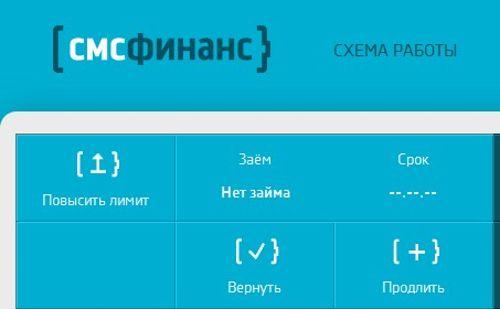 СМС Финанс личный кабинет