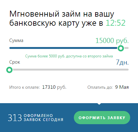 Турбозайм на карту онлайн заявка на займ в МФК