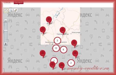 банк москвы адреса отделений в москве на карте