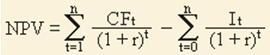Вторая формула расчета NPV