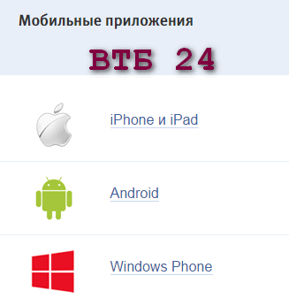 Мобильное приложение ВТБ 24 Телебанк