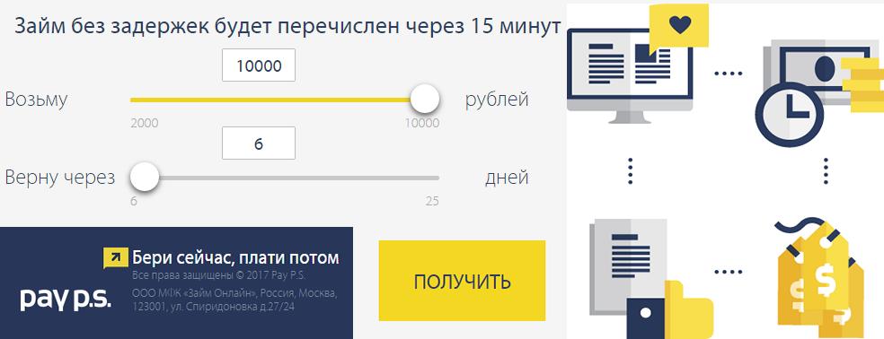 PayPS – ООО Займ Онлайн МФК Пайпс займы срочно